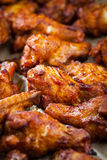 Chicken wings on baking sheet Stock Images
