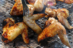 Chicken wings barbecue on grill Royalty Free Stock Photo