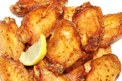 Chicken wings barbequed. Chicken wings roasted barbequed korean style flavor stock photography