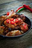 Chicken wings with bbq Stock Image