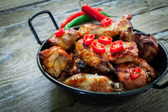 Chicken wings with bbq Stock Photo