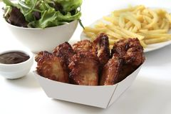 Chicken wings dinner Royalty Free Stock Photos