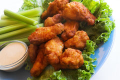 Chicken wings and dip Stock Images
