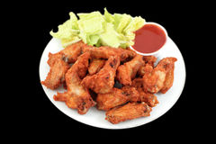 Chicken wings and dip Stock Photography