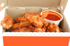 Chicken wings and dip Royalty Free Stock Photos