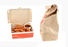Chicken wings and dip delivery Royalty Free Stock Images