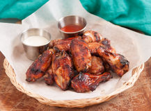 chicken wings with dip Stock Images