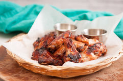 chicken wings with dip Royalty Free Stock Photo