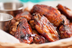 chicken wings with dip Stock Image