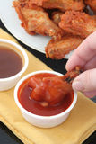 Chicken wings and dips Stock Photo