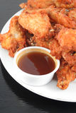 Chicken wings and dips royalty free stock image