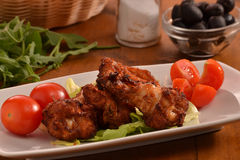 Chicken wings dish Stock Images