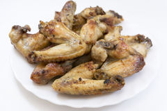 Chicken wings full plate Stock Photography