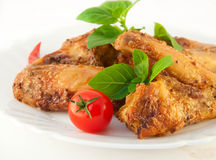 Chicken wings a grill Stock Photography