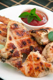 Chicken wings on a grill Royalty Free Stock Photography