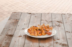 Chicken wings on grill Royalty Free Stock Photo