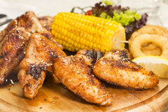 Chicken wings are grilled Stock Images
