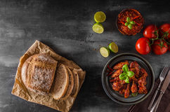 Chicken wings hot sauce Royalty Free Stock Image