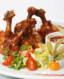 Chicken wings with hot spicy  sauce Stock Photography
