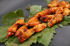 Chicken wings on a leaf Royalty Free Stock Photos