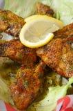 Chicken wings lemon pepper Stock Photos