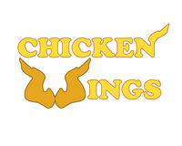 Chicken wings logo royalty free stock images