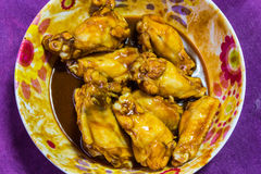 Chicken Wings in Marinade sauce Royalty Free Stock Photography