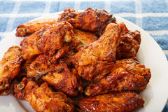 Chicken Wings with Mesquite Barbecue Sauce Royalty Free Stock Photos