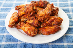 Chicken Wings with Mesquite Sauce Stock Photos
