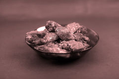 Chicken wings in a plate Royalty Free Stock Photos