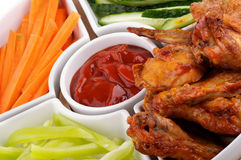 Chicken Wings Platter Stock Photography