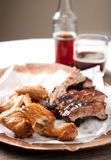 Chicken wings and pork ribs Royalty Free Stock Images