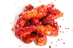 Chicken wings in raspberry sauce Stock Photography