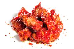 Chicken wings in raspberry sauce Stock Image
