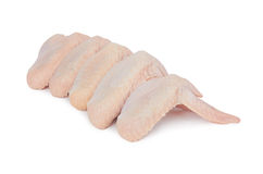 Chicken wings. Raw chicken wings isolated on white background Stock Photo