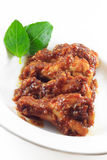 Chicken Wings with Red. Hot from the oven Royalty Free Stock Images