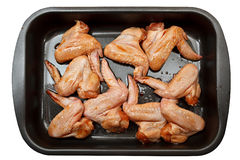 Chicken wings with sauce for baking. Royalty Free Stock Image