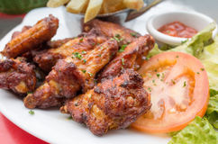 Chicken wings with Royalty Free Stock Images