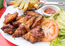 Chicken wings with Stock Photos