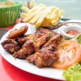Chicken wings with Royalty Free Stock Photo