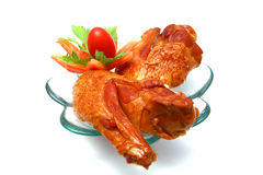 Chicken wings served on dish Royalty Free Stock Photos