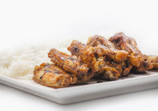 Chicken wings with soya Royalty Free Stock Images