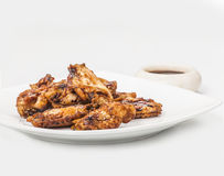 Chicken wings. With soya sauce Stock Photography