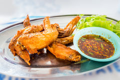 Chicken wings with spicy sauce,Thai style. Royalty Free Stock Images