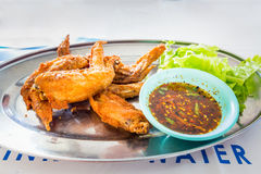 Chicken wings with spicy sauce,Thai style. Royalty Free Stock Photo