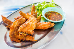 Chicken wings with spicy sauce,Thai style. Stock Image
