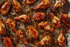 Chicken wings with sriracha sauce Stock Image