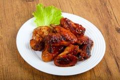Chicken wings. In teriyaki sauce stock images