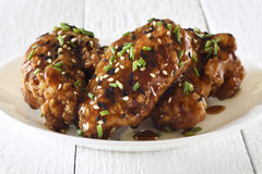 Chicken wings, teriyaki style Stock Photography