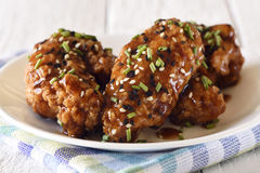 Chicken wings, teriyaki style Royalty Free Stock Photography